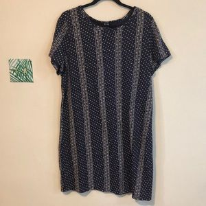 White and blue patterned dress from old navy